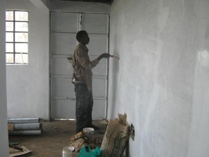 Painting an inside wall